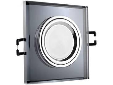 LED Glas Einbaustrahler quadratisch 12V oder 230V, schwarz #QD6