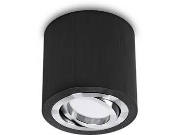 LED Aufbaustrahler aufputz schwenkbar rund Aluminium schwarz GU10-230V #WF8