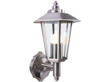 LED Wandleuchte, Außenleuchte, Fackelleuchte, Edelstahl, IP44, E27-230V, (#W12)