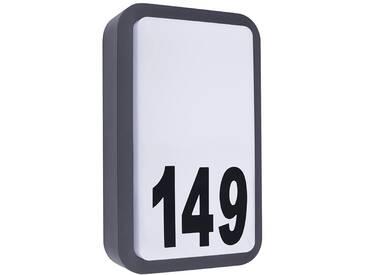 LED Hausnummernleuchte Hausnummernschild Außenleuchte Anthrazit IP54 230V (Form:HS2)