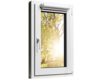Fensterrollo Duorollo mit Sichtschutz und Sonnenschutz inkl. Klemmfixfunktion und Montagematerial Weiss 100 x 160
