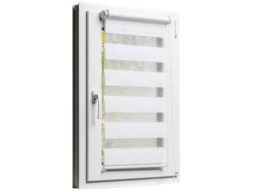 Balkontürrollo Duorollo mit Sichtschutz und Sonnenschutz inkl. Klemmfixfunktion und Montagemateria Weiss 90 x 220