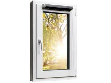 Fensterrollo Duorollo mit Sichtschutz und Sonnenschutz inkl. Klemmfixfunktion und Montagematerial Schwarz 55 x 160
