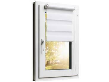 Balkontürrollo Duorollo mit Sichtschutz und Sonnenschutz inkl. Klemmfixfunktion und Montagemateria Weiss 100 x 220