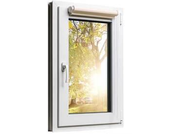 Fensterrollo Duorollo mit Sichtschutz und Sonnenschutz inkl. Klemmfixfunktion und Montagematerial Creme 75 x 160