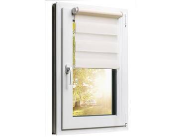Balkontürrollo Duorollo mit Sichtschutz und Sonnenschutz inkl. Klemmfixfunktion und Montagemateria Creme 80 x 220