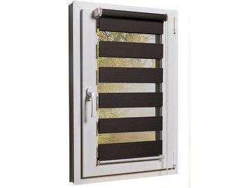 """Fensterrollo Duorollo mit Sichtschutz und Sonnenschutz inkl. Klemmfixfunktion und Montagematerial """"Braun 100 x 160"""""""