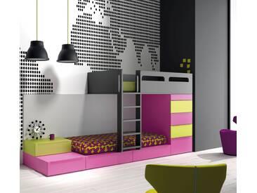Etagenbett Holz Weiß : Hochbett jugendbett kinderbett etagenbett holz cm kaufen bei