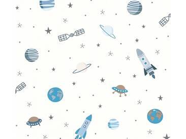 Tapete 358281 Esprit HOME Esprit Kids 5 | Papiertapete Blau Grau Weiß Natur Grafik Modern online kaufen