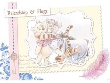 Fototapete no. 405   Disney Tapete Winnie Puuh Tigger IAah Ferkel Kindertapete Cartoon Freunde Schlüssel gelb