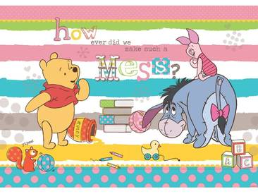 Fototapete no. 1120   Disney Tapete Winnie Puuh Kindertapete Cartoon Bär Spielzeug gelb