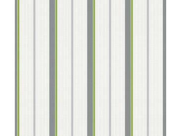 Tapete 357071 Esprit HOME Esprit Kids 5 | Tapete Grau Grün Weiß Streifen online kaufen