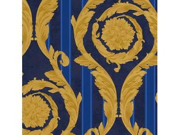 Tapete 93568-1 A.S. Création Versace Vliestapete blau gold Barocktapete online kaufen