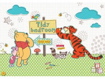 Fototapete no. 1309   Disney Tapete Winnie Puuh Winnie Pooh Tigger Ferkel Illustration Cartoons bunt