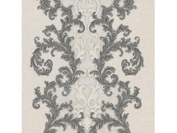 Versace-Tapeten 962325  Versace 2 Vliestapete grau metallic weiß Barocktapete online kaufen