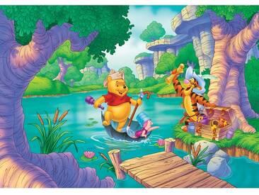 Fototapete no. 3024   Kindertapete Tapete Disney Winnie Puuh Disney Winnie Pooh Ferkel Tiger Schatz Wasser bunt