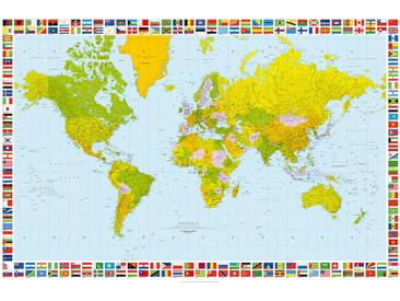 Giant Art XXL-Poster W655 Map of the World