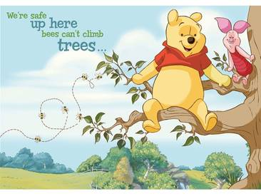 Fototapete no. 1687   Cartoon Tapete Disney Winnie Puuh Ferkel Bienen Baum bunt