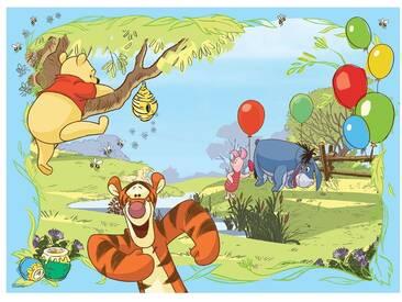 Fototapete no. 1924   Disney Tapete Winnie Puuh Kindertapete Cartoon Tigger Winnie Pooh Esel Ferkel Honig bunt