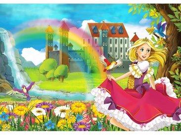 Fototapete My Little Princess | Kindertapete Tapete Kinderzimmer Märchen Fee Elfen Prinzessin bunt