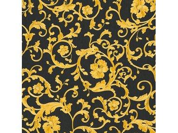 Versace-Tapeten 343262  Versace 3  Gelb Grau Schwarz / Anthrazit Klassisch online kaufen