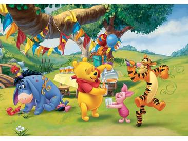 Fototapete no. 922   Disney Tapete Winnie Puuh Kindertapete Cartoon Bär Tiger Esel Tigger Ferkel Ballon grün
