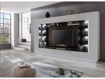 Wohnwand Sensis /Weiß, Kunststoff