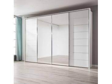 Staud Schwebetürenschrank Sonate-Como, 298 x 222 cm, Weiß Glas
