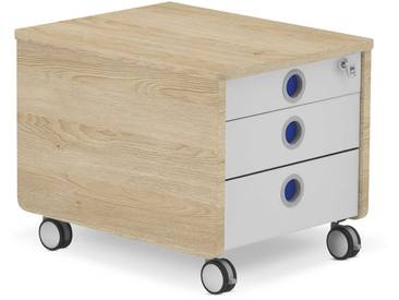 Moll Rollcontainer Pro, Eiche Holzoptik
