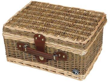 Cilio Picknickkorb Melano, braun Holz, Textil, Natur