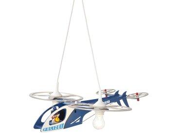 Elobra Kinderlampe Polizei Helikopter, Blau Holz A++