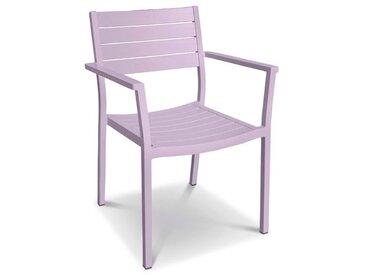 Stapelstuhl Amica, Aluminium /Lavendel,