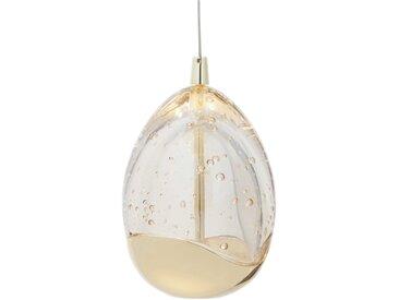 DesignLive LED-Pendelleuchte Tear, gold Glas A+