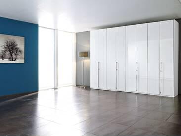 Loddenkemper Kleiderschrank Maximum, 322 x 223 cm, Weiß Lack /