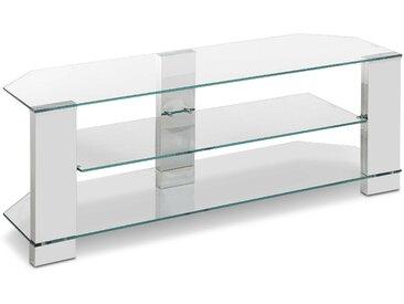 TV Rack Clear, Transparent Glas
