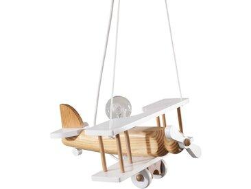 Waldi Kinderlampe Flugzeug, Weiß Holz A++