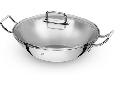 Zwilling Wok mit Glasdeckel 32 cm, silber Edelstahl