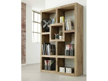 Wolf Möbel Raumteiler Yoga, braun Holz