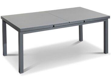 Gartentisch mit Auszug Creek 180 x 100 cm /Dunkelgrau, Aluminium