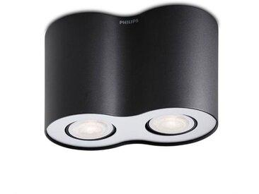 Philips LED-Deckenleuchte Hue Pillar /Schwarz, Alu, Eisen, Stahl