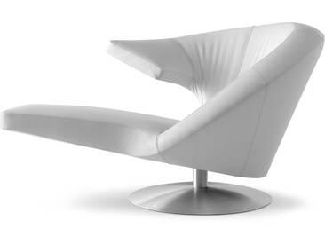 LEOLUX Sessel Parabolica, Weiß Leder