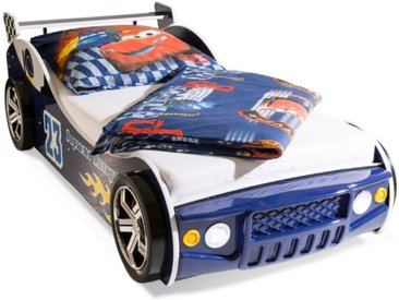 BEGABINO Autobett Energy 90 x 200 cm /Blau, Lack / Hochglanz