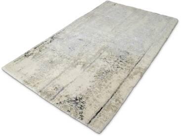 Kleine Wolke Badteppich Caracas 60 x cm, Grau Baumwolle