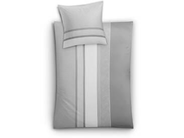 Kleine Wolke Bettwäsche Skye 155 x 220 cm, grau Satin