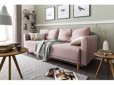 BOOOM Schlafsofa Scandic, Rose Stoff