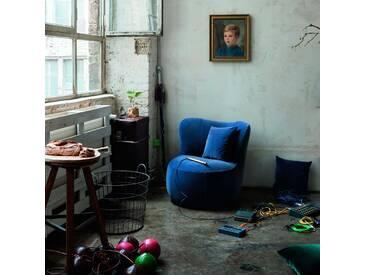 freistil Sessel 173, Blau Stoff