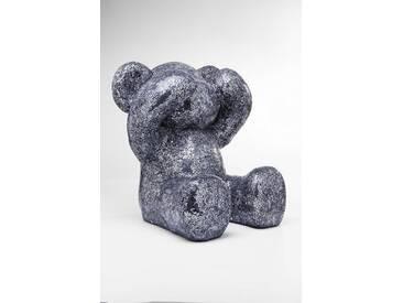 KARE Deko-Figur Crystal Bear 61634, silber Kunststoff