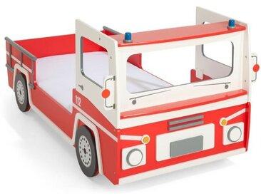 demeyere Feuerwehrauto-Bett Corpo 90 x 200 cm /Rot, Lack /