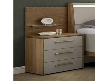 Loddenkemper Nachttisch Multi-Comfort, grau Holzoptik