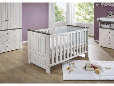 Babybett Jolina 70 x 140 cm, Weiß Holz